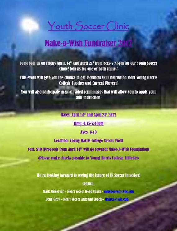 Young Harris College Soccer Clinics